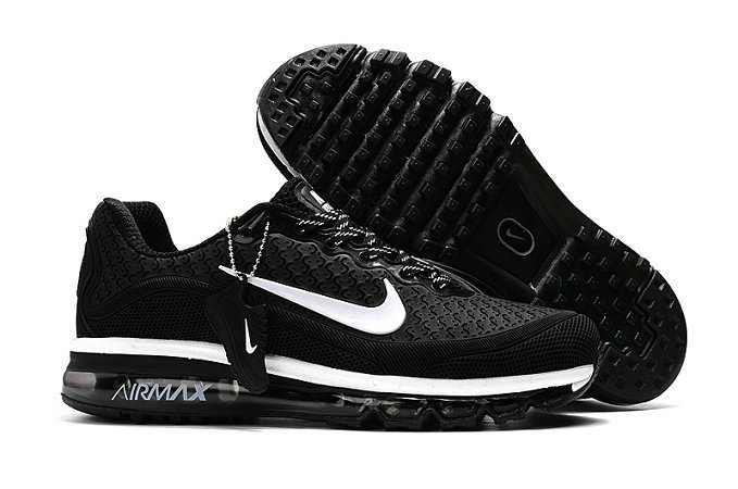 Cheap Nike Air Max 2017 Mens Rubber Patch White Black On VaporMaxRunning