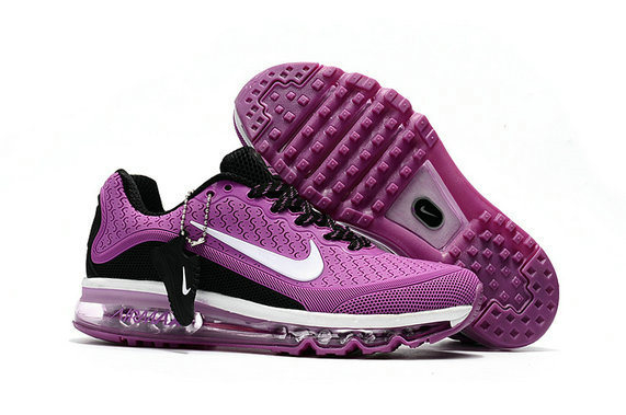 Cheap Nike Air Max 2017 Womens Rubber Patch Purple White Black On VaporMaxRunning