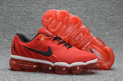 Cheap Nike Air Max 2018 University Red Black Sneakers On VaporMaxRunning
