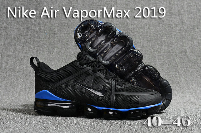 Cheap Nike Air Max 2019 x VaporMax Black Blue On VaporMaxRunning