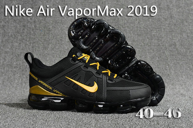 Cheap Nike Air Max 2019 x VaporMax Gold Black On VaporMaxRunning