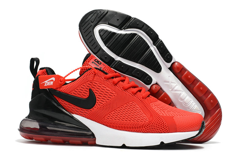 Cheap Nike Air Max 270 Running Shoes Rubber Label Red Black White