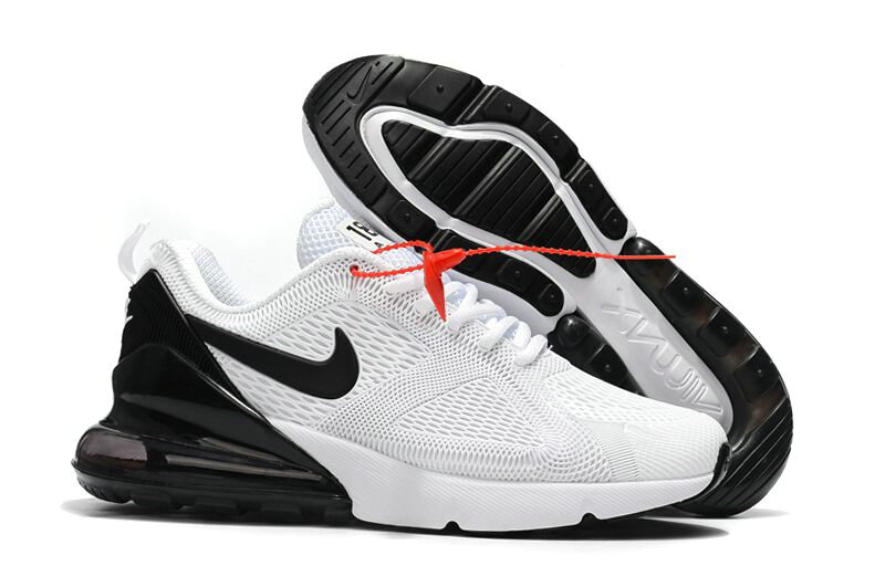 Cheap Nike Air Max 270 Running Shoes Rubber Label White Black