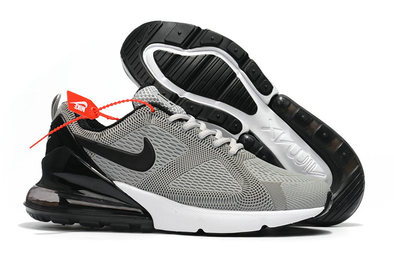 Cheap Nike Air Max 270 Running Shoes Rubber Label Wolf Grey Black White