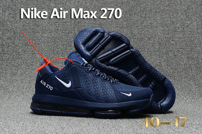 Cheap Nike Air Max 270 Sneakers For Mens Navy Blue White On