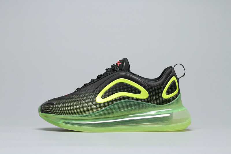Cheap Nike Air Max 720 Black Fluorescent Green Noir Fluorescent Vert A02924-008 On VaporMaxRunning