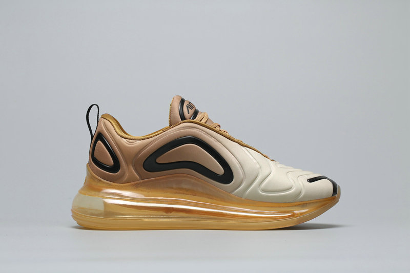 Cheap Nike Air Max 720 Champagne Gold Gradient Champagne A02924-700 On VaporMaxRunning