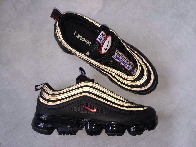 new styles b778d 8e5a3 Cheap Nike Air Max 97 x VaporMax Gold Black Red For Sale On VaporMaxRunning
