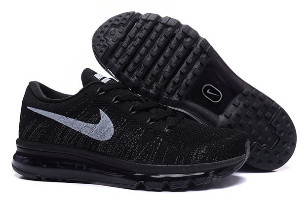 Cheap Nike Air Max Flyknits Women Black Grey On VaporMaxRunning
