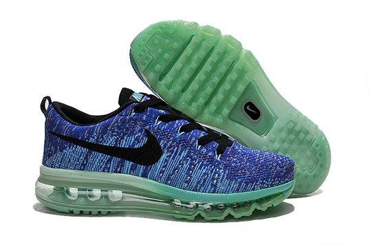 Cheap Nike Air Max Flyknits Women Blue Black Green On VaporMaxRunning