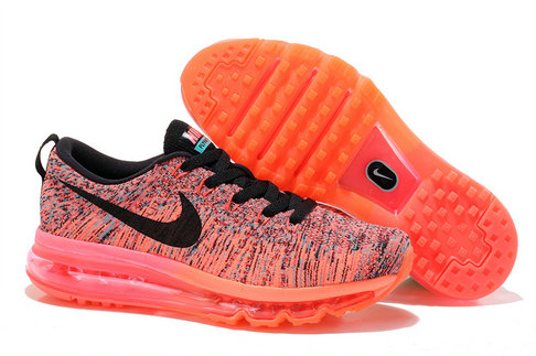 Cheap Nike Air Max Flyknits Women Orange Red Black On VaporMaxRunning