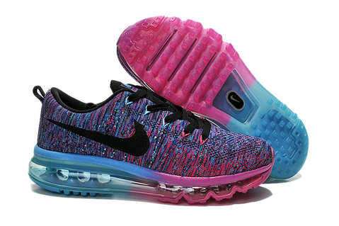 Cheap Nike Air Max Flyknits Women Purple Blue Black On VaporMaxRunning