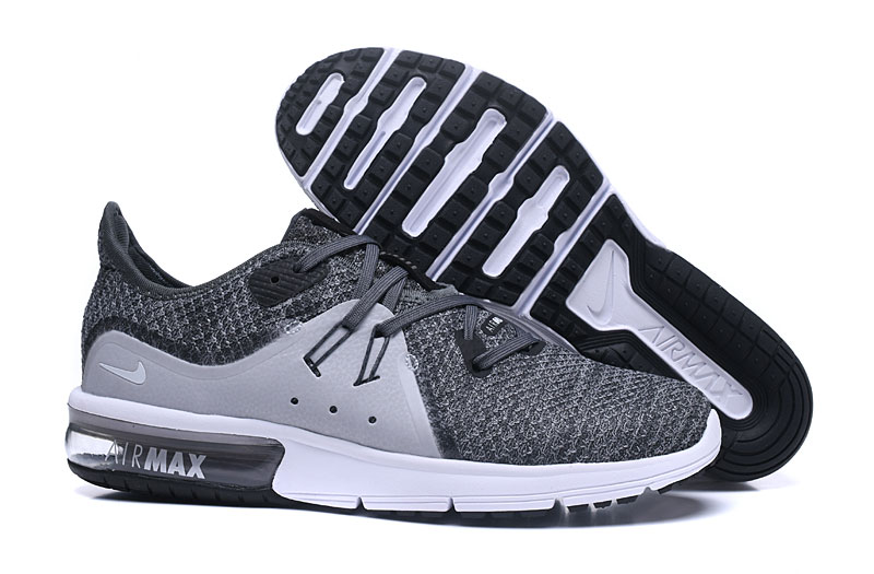 Cheap Nike Air Max Sequent Grey White Running Shoes On VaporMaxRunning