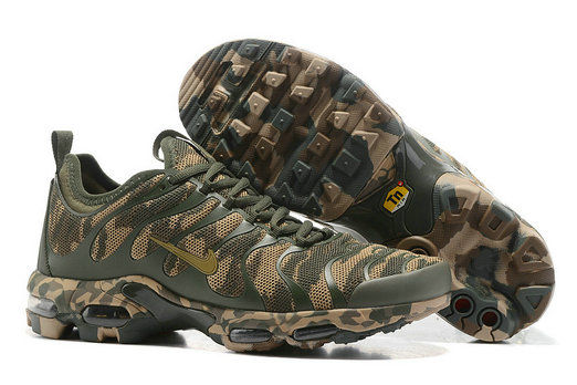 Cheap Nike Air Max TN Plus CAMO Womens Gold Grey Brown On VaporMaxRunning