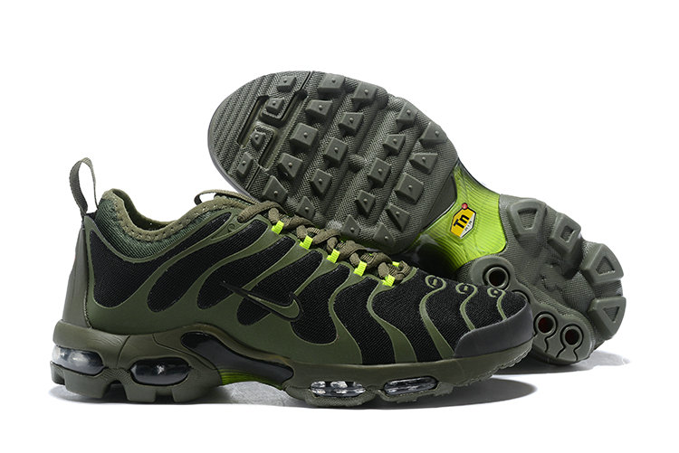 Cheap Nike Air Max TN Running Shoes Army Green Black