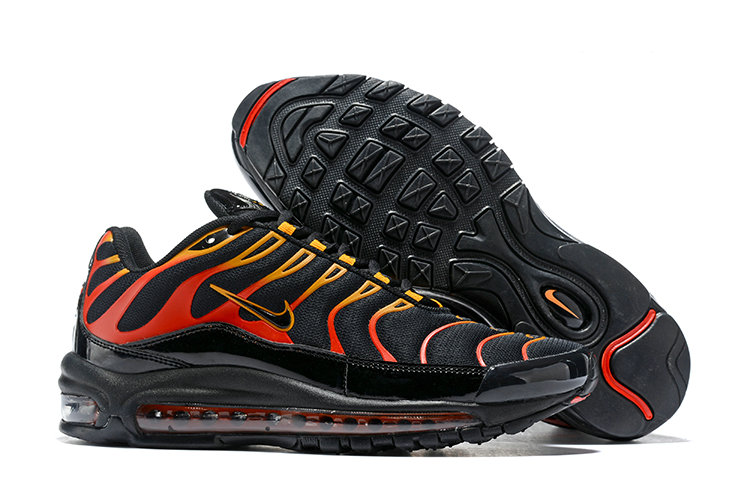 Cheap Nike Air Max Tn x Air Max 97 Mens Black Gold Red On VaporMaxRunning