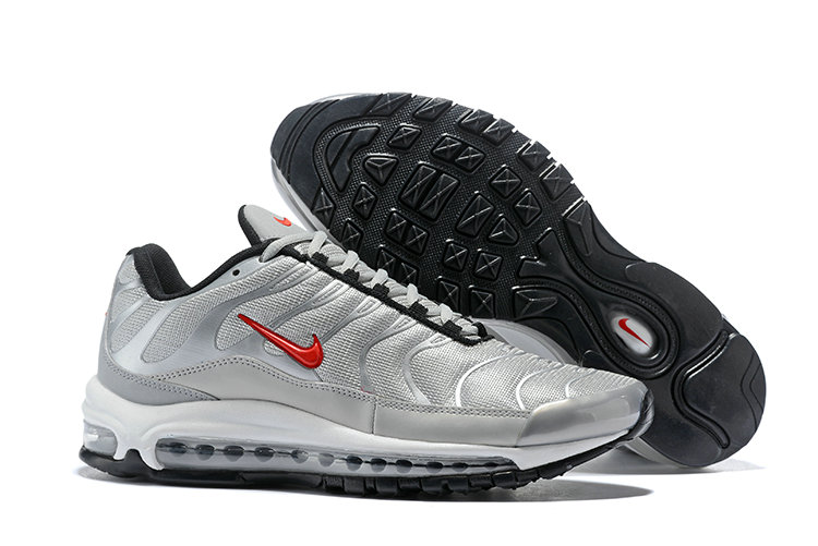 Cheap Nike Air Max Tn x Air Max 97 Mens Silver Grey Red Black White On VaporMaxRunning