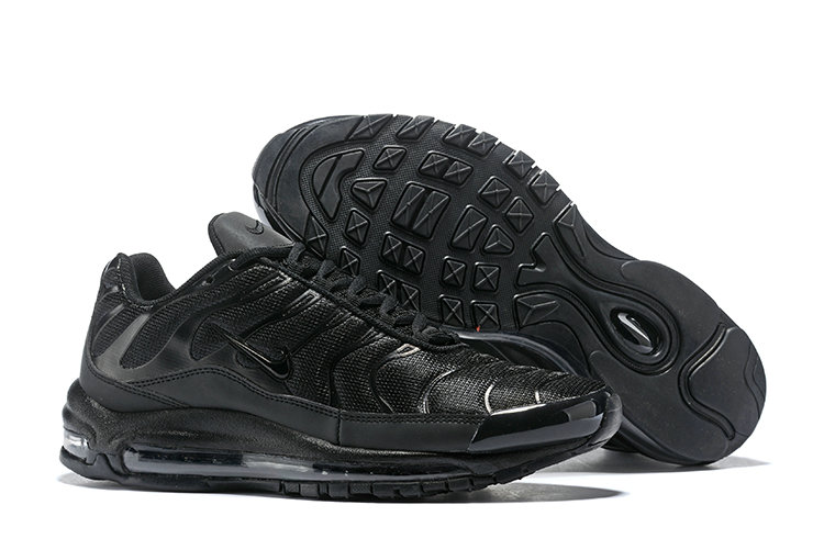 Cheap Nike Air Max Tn x Air Max 97 Mens Triple Black On VaporMaxRunning