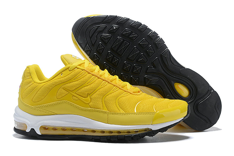 Cheap Nike Air Max Tn x Air Max 97 Mens White Yellow Black On VaporMaxRunning
