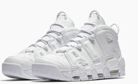 Cheap Nike Air More Uptempo 2 All White On VaporMaxRunning