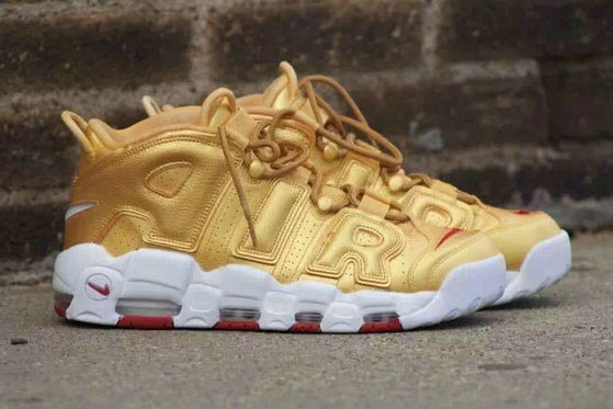 Cheap Nike Air More Uptempo 2 Gold Red White On VaporMaxRunning