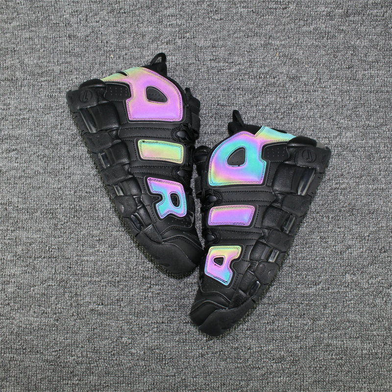 Cheap Nike Air More Uptempo Colorway Rainbow Black On VaporMaxRunning