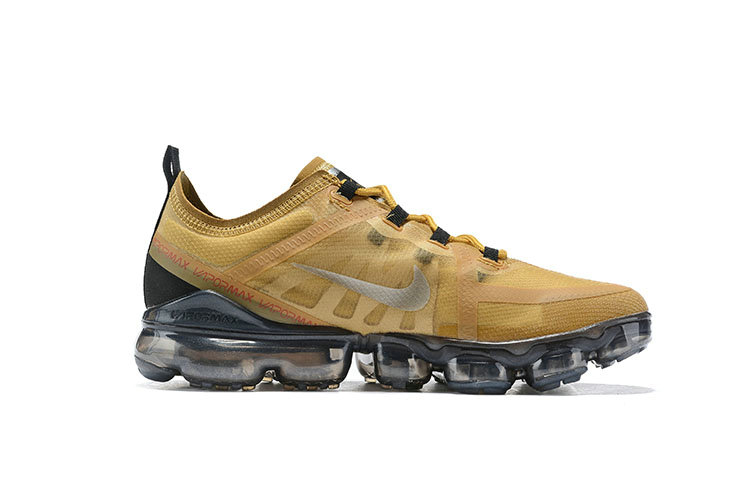 Cheap Nike Air VaporMax 2019 Premium Golden Grey Black On VaporMaxRunning