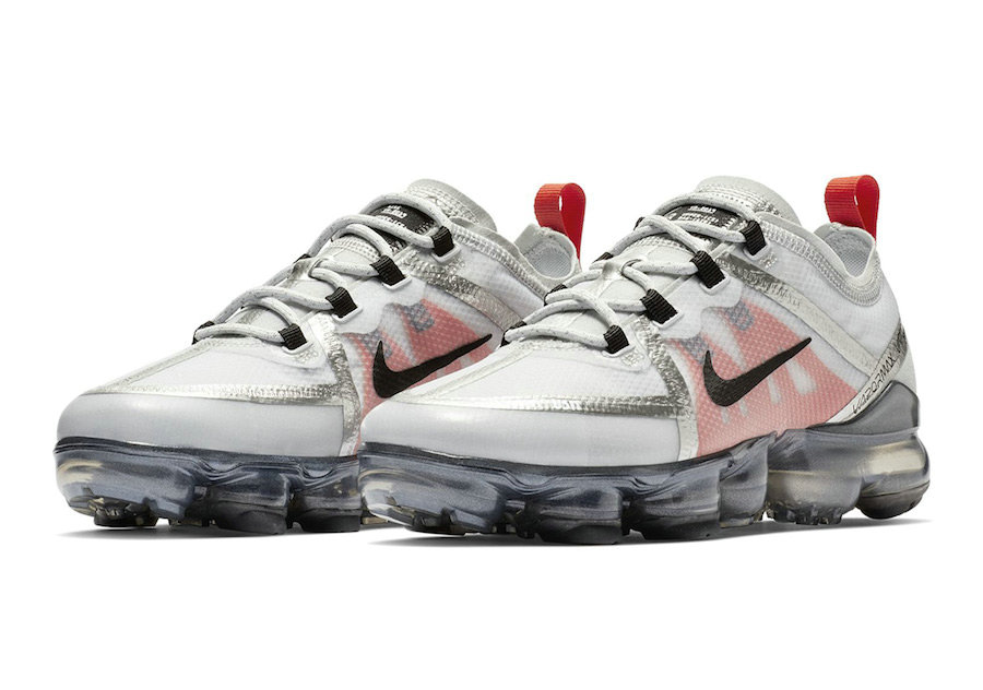 Cheap Nike Air VaporMax 2019 Premium Silver White Red Black On VaporMaxRunning