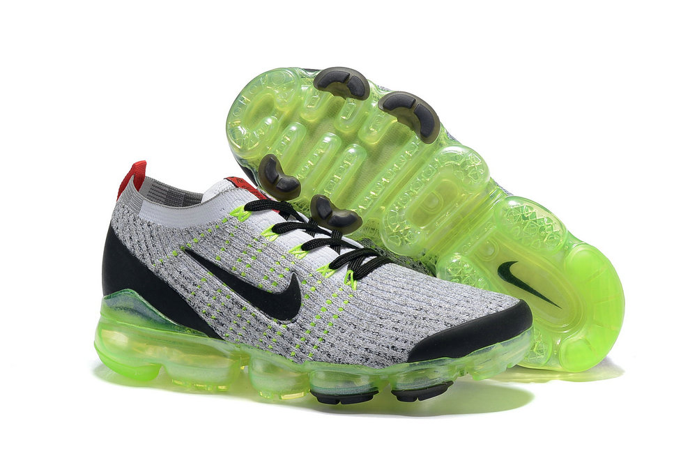 Cheap Nike Air VaporMax 3.0 White-Black-Volt-Bright Crimson-Metallic Silver AJ6900-100 On VaporMaxRunning