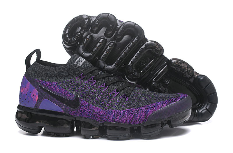 Cheap Nike Air VaporMax Flyknit 2 Dark Grey Purple 942842 600 On VaporMaxRunning