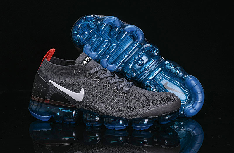 Cheap Nike Air VaporMax Flyknit 2.0 Shoes Deep Grey Black Blue