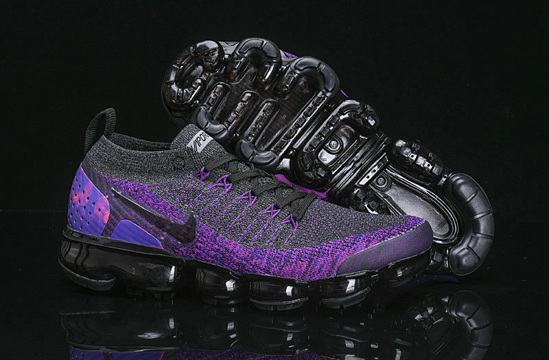 Cheap Nike Air VaporMax Flyknit 2.0 Shoes Purple Black