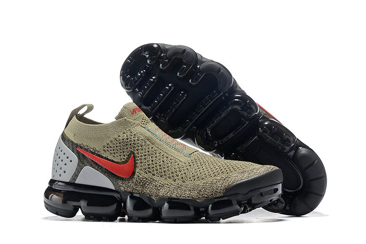 Cheap Nike Air VaporMax Flyknit 2.0 Womens Shoes Red Brown Black