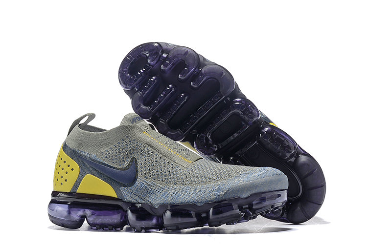 Cheap Nike Air VaporMax Flyknit 2.0 Womens Shoes Yellow Grey Black