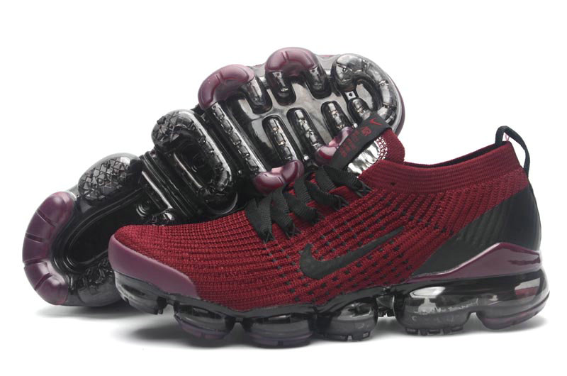 Cheap Nike Air VaporMax Flyknit 3.0 Deep Red Black Purple On VaporMaxRunning