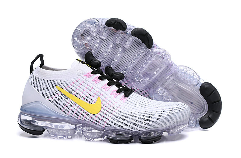Cheap Nike Air VaporMax Flyknit 3.0 White Dynamic Yellow Hyper Turquoise AJ6900-103 On VaporMaxRunning