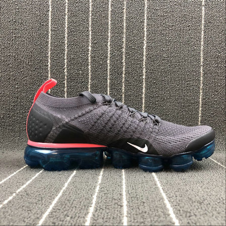 Cheap Nike Air Vapormax FLYKNIT 2.0 942842-009 Thunder Grey White Geode Teal Gris Tonnerre Blanc On VaporMaxRunning