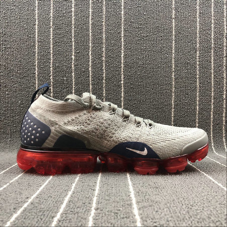 Cheap Nike Air Vapormax FLYKNIT 2.0 942842-010 Dark Stucco Grey Fog-Obsidian Stic Fonce Gris Grenouille On VaporMaxRunning