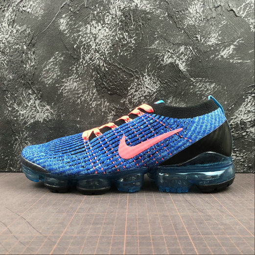 Cheap Nike Air Vapormax FLYKNIT 3 2018 Blue Fury Flash Crimson Bleu Electrique 2 AJ6900-401 On VaporMaxRunning