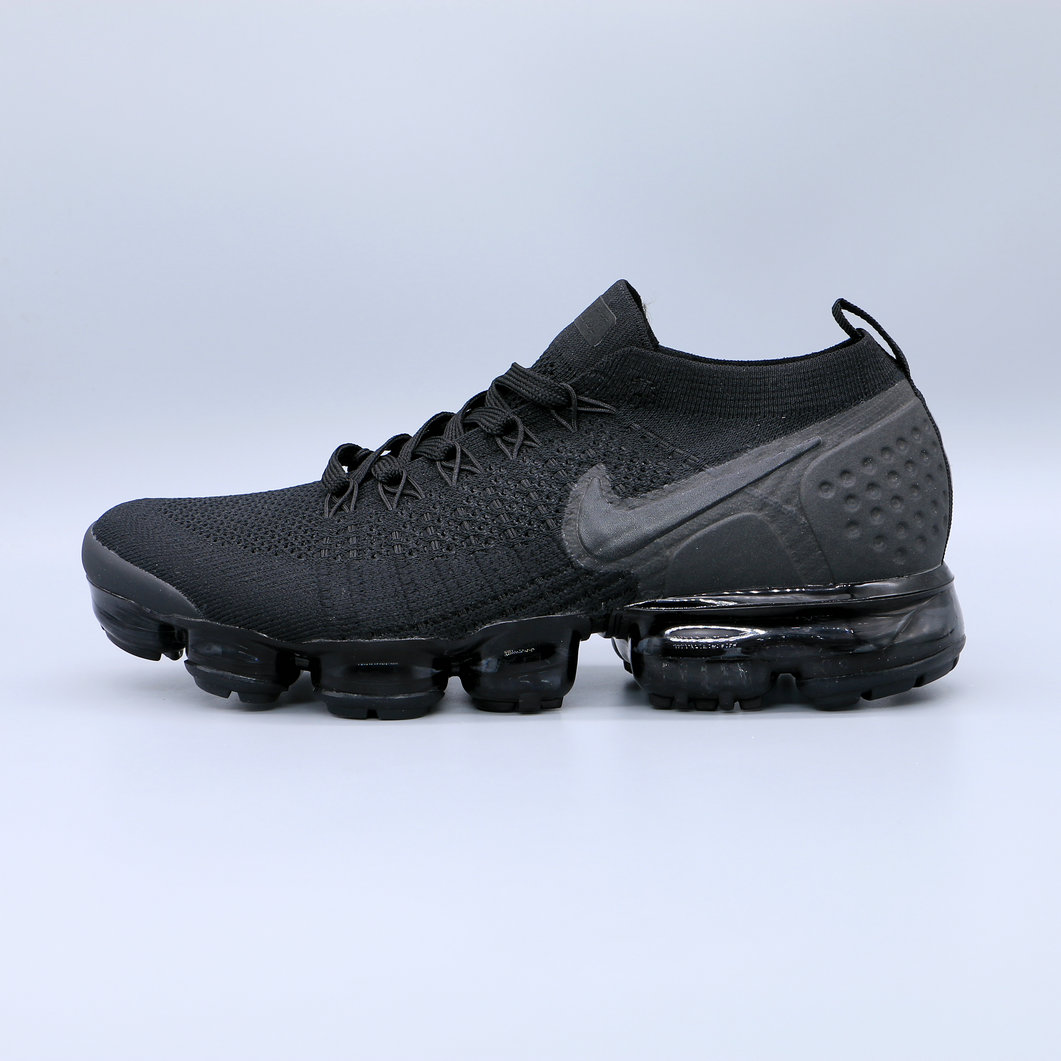 Cheap Nike Air Vapormax Flyknit 2.0 Triple Black Noir Blanc On VaporMaxRunning