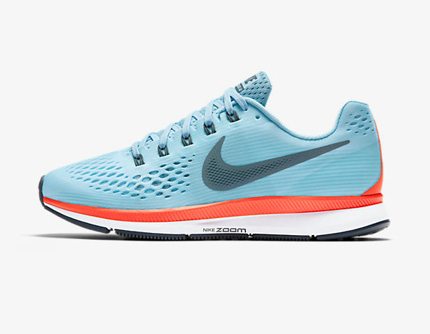 Cheap Nike Air Zoom Pegasus 34 Womens Baby Blue Red White On VaporMaxRunning