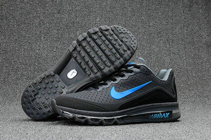 Cheap Nike AirMax 2017 Mens Blue Grey Black On VaporMaxRunning