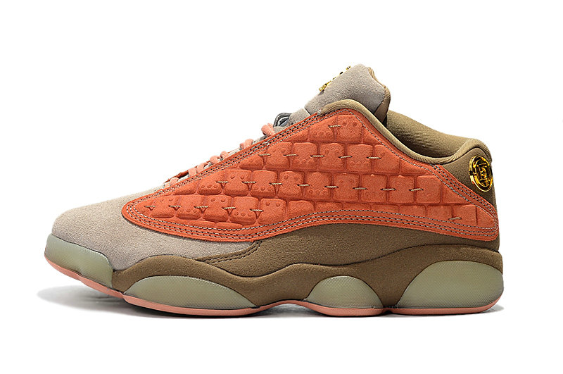 Cheap Nike Clot x Air Jordan 13 Low AT3102-200 Sepia Stone Canteen-Terra Blush On VaporMaxRunning