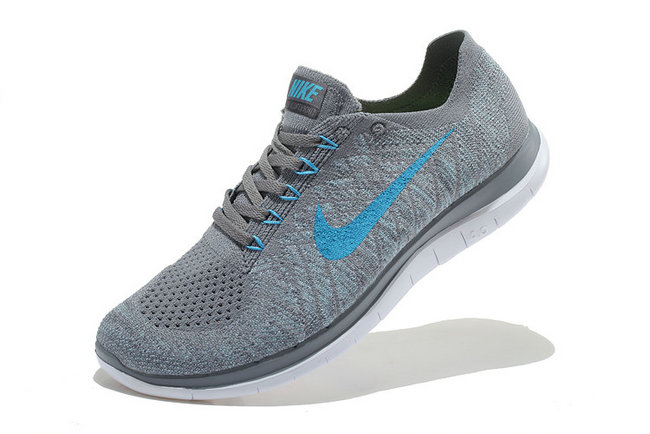 Cheap Nike Free 4.0 Flynit Men Deep Grey Blue On VaporMaxRunning
