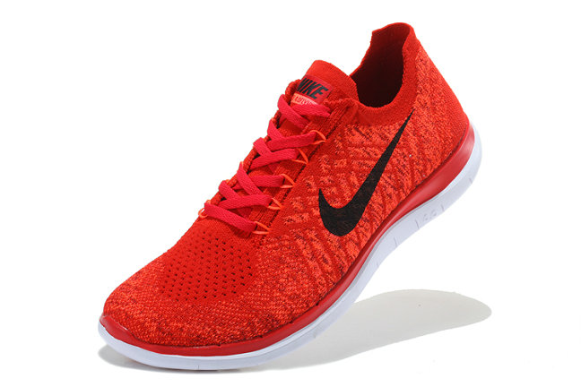 Cheap Nike Free 4.0 Flynit Men Red Black On VaporMaxRunning