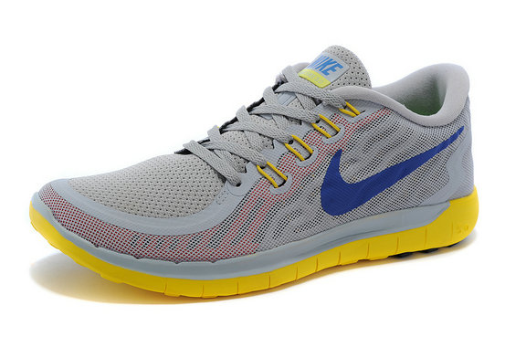 Cheap Nike Free 5.0 2015 Yellow Grey Blue White On VaporMaxRunning