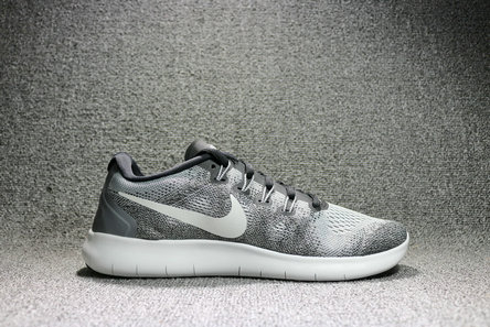 Cheap Nike Free RN 2017 Grey Black White On VaporMaxRunning