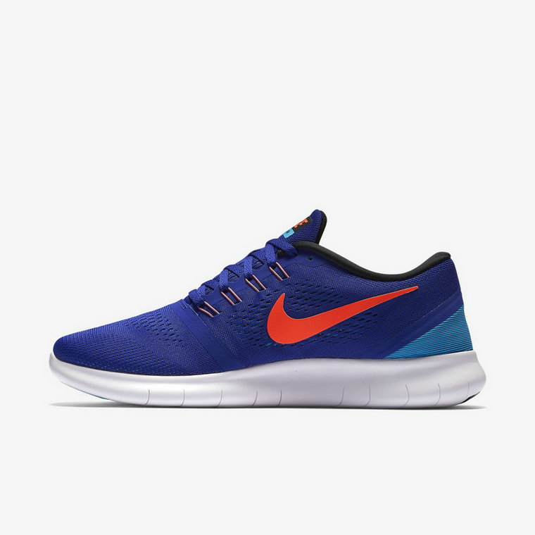Cheap Nike Free RN Running Orange Blue White On VaporMaxRunning