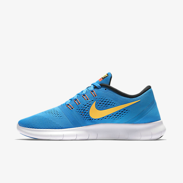 Cheap Nike Free RN Running Royal Blue Yellow Black White On VaporMaxRunning