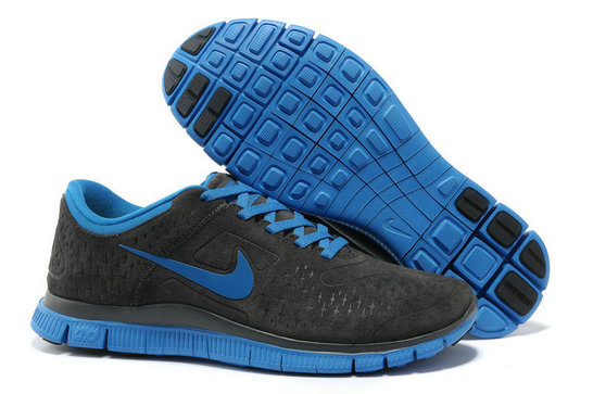 Cheap Nike Frees 4.0 Black Blue Grey On VaporMaxRunning